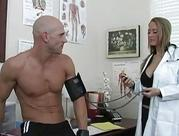 delicious huge breasted blonde doctor drilled by handsome patient