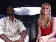 Mesmerizing hot blonde babe undresses and does oral sex in the car