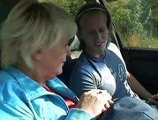 old skank gets hammered in the car by a stranger
