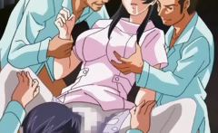 Amazing anime nurse gets boned