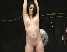 young slavegirl Lyarah tied and tormented to tears