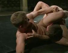Great looking gay men wrestle for domination