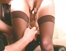 Double domination of thin submissive Emma Louise