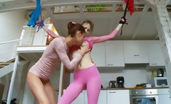 18yo russian chicks playing with dildos