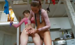 18yo russian teenagers playing with toys