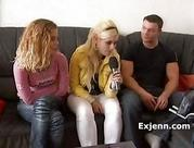 German Casting blondie slim hot girl gets fuck 1