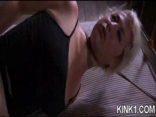 Submissive skank Gets Tied Up And Fuck.