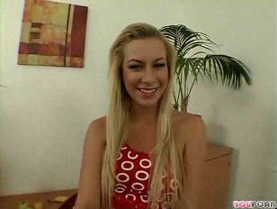 charming blonde on the casting couch