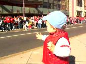 Toddler Leads The Celebration - Future Dictator