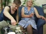 Drunk mother poked by young boy by anonymous