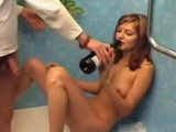 Drunk tiny tits lady swallows and rides in bath by chelak