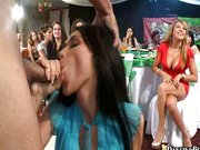 Crazy party sluts sucking meat