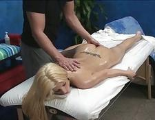 blonde babe swallowing humongous penis