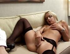 blondy European lady wants cougar dong