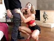 Cougars in Heels Give Blowjobs