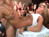 Hot blondy banged and Facialized by Stripper in Front of Everyone by Jenni