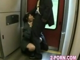 jap charming schoolgilrl gives facial cumshot oral sex to geek on the train by bonbonme