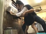 asian broad In Uniform Getting Her cunt fucked Facial In The Restaurants Kitchen by japlez