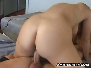 Amateur anal threesome with facial cu.