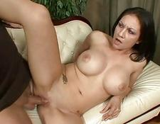 Busty brunette housewife pounded by well hung stag