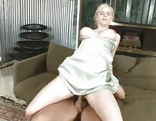 fine yellow-haired Housewife fucks cock