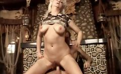 Horny cougar  gets drilled and blowing