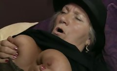 Horny old girl gets her snatch pounded