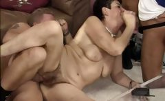 Horny meaty chick goes crazy getting
