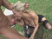 Ferocious Housewife Takes huge guy Where Anyone Can See