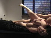 Busty housewife drilled