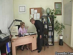 Office girl gives head then gets nail.
