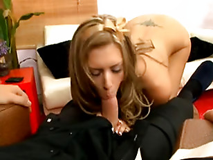 Blond housewife poked hard by her ma.