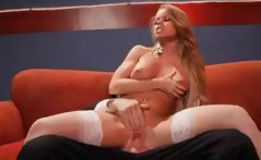 Redhead Nikki Delano in a scene from American Dad XXX getting drilled