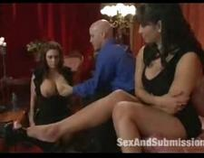 Maledom bdsm threesome anal fetish humiliation and spanking