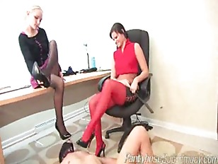 blonde and brunette get hot hurting c.