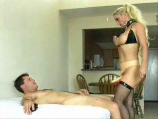 blondie lady rides His ass Good