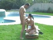 Hungarian honeys Veronica Carso blowing large chunky dick
