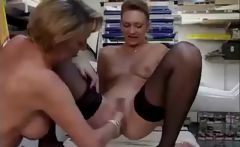 2 horny lesbians in twat fisting and butt fisting action