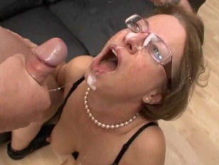 old milf facialed