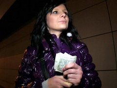 Shy Czech broad is convinced the flash & fuck in public for cash