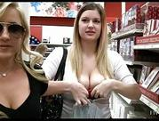 Ftv girlLia and Daniellebusty blonde babes public flashing melons