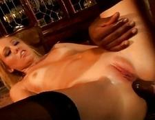 Liv Wylder  hot yellow-haired likes ebony dick in her butthole interracial sex creampie climax cumshot  facial naughty whore