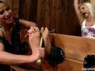 gagged foot tickled