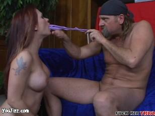 Katja forced to chew on her panties