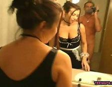 POV Hardcore Fucking With French Maid girlfriend