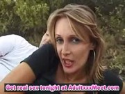 Bushy French cougar Anal boned Outdoor
