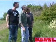 FRENCH OUTDOOR GANGBANG