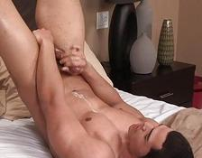 charming latin lover jerking off