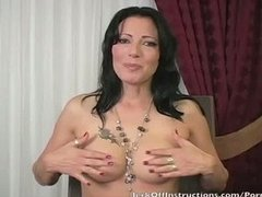 Teacher Zoey Holloway makes you stroke your penis
