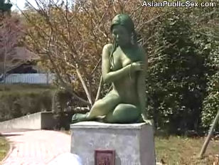 chinese Public Painted Statue Fuck